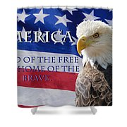 America Land Of The Free Shower Curtain