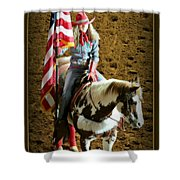 America -- Rodeo-style Shower Curtain