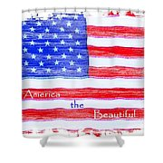 America The Beautiful Shower Curtain by Robert ONeil