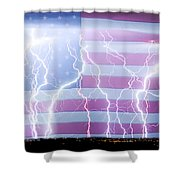 America The Powerful Shower Curtain by James BO  Insogna