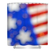 American Abstract Shower Curtain