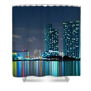 American Airlines Arena And Condominiums Shower Curtain