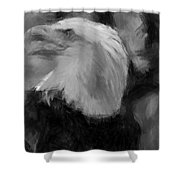 American Bald Eagle V4 Shower Curtain