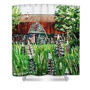 American Barn Shower Curtain