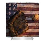 American Baseball Shower Curtain