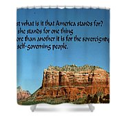 American Belief Shower Curtain