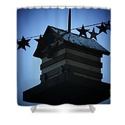 American Bird House Shower Curtain