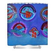 American Blue Shower Curtain