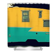 American Camper Series No.4 Shower Curtain