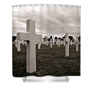 American Cemetery In Normandy  Shower Curtain