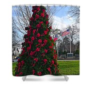 American Christmas Shower Curtain