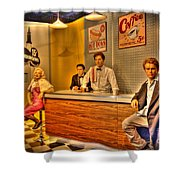 American Cinema Icons - 5 And Diner Shower Curtain