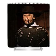 American Cinema Icons - The Man With No Name Shower Curtain