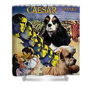 American Cocker Spaniel Art - Julius Caesar Movie Poster Shower Curtain