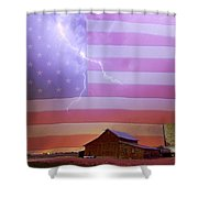 American Country Storm Shower Curtain