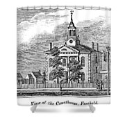 American Courthouse, 1844 Shower Curtain