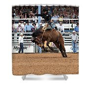 American Cowboy Riding Bucking Rodeo Bronc I Shower Curtain