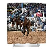 American Cowboy Riding Bucking Rodeo Bronc II Shower Curtain