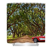 American Dream Drive 2 Shower Curtain