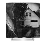 American Dream IIi Square Shower Curtain