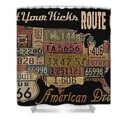 American Dream-route 66 Shower Curtain
