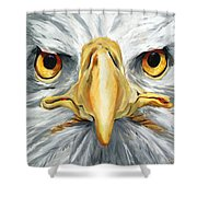 American Eagle - Bald Eagle By Betty Cummings Shower Curtain by Sharon Cummings