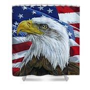American Eagle Shower Curtain by Sarah Batalka