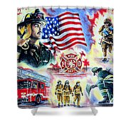 American Firefighters Shower Curtain