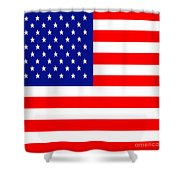 American Flag . Square Shower Curtain