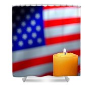 American Flag And Candle Shower Curtain