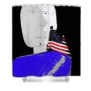 American Flag Collage Tucson Arizona Mid 1980's-2013 Shower Curtain