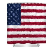 American Flag Embossed Shower Curtain