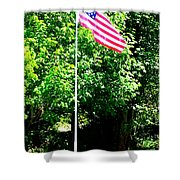 American Flag - Honoring John Shower Curtain by Tap On Photo