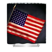 American Flag In Smoke Shower Curtain