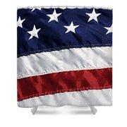 American Flag Shower Curtain by Jill Lang