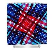 American Flag Kaleidoscope Shower Curtain