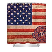 American Flag Made In China Shower Curtain