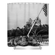 American Flag Monument Shower Curtain