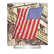 American Flag N.y.c 1 Shower Curtain