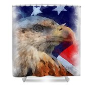 American Flag Photo Art 03 Shower Curtain