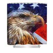 American Flag Photo Art 04 Shower Curtain