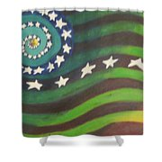 American Flag Reprise Shower Curtain