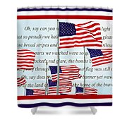 American Flag Tribute  Shower Curtain