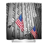 American Flags  Shower Curtain