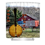 American Folk Music Shower Curtain