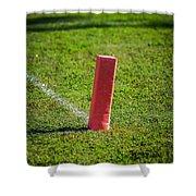 American Football Field Marker Shower Curtain
