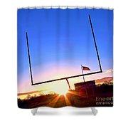 American Football Goal Posts Shower Curtain