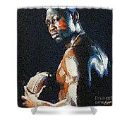 American Football Player Shower Curtain