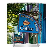 American Gothic Coffee Shower Curtain
