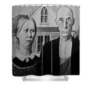 American Gothic In Black And White 1 Shower Curtain